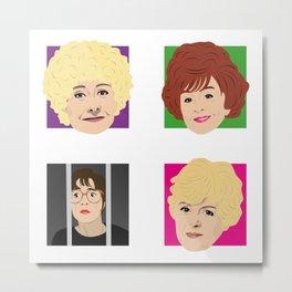 Coronation Street - Vera, Rita, Ivy and Deirdre Metal Print