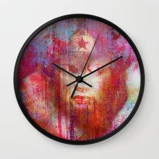 wonder abstract woman Wall Clock