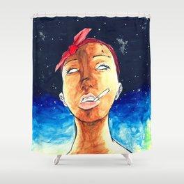 No Eyes Shower Curtain