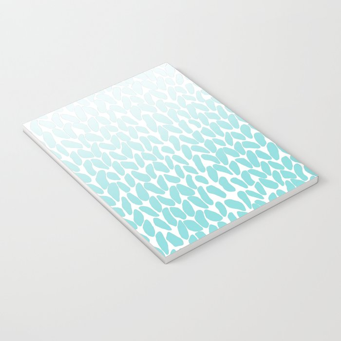 Hand Knitted Ombre Teal Notebook