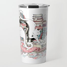 Acqua Alta bookstore, Venice Travel Mug