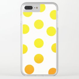 BIG YELLOW DOTS Clear iPhone Case