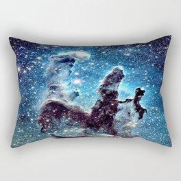 Pillars of Creation Nebula: Ocean Blue Galaxy Rectangular Pillow