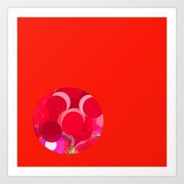 Sexyplexi dots in red mini ball Art Print