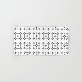 Flag of new mexico 3: Black and white version Hand & Bath Towel
