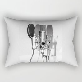 Microphone black and white Rectangular Pillow