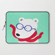 Hipster Polar Bear Laptop Sleeve