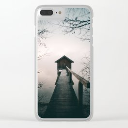Framed by Nature / Haunted House 1 Clear iPhone Case