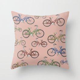 Leisure Bike Ride Throw Pillow