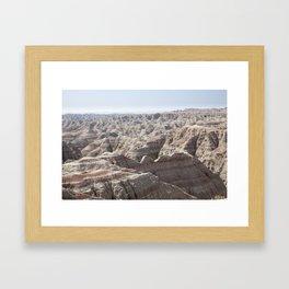 Fantastic Badlands Framed Art Print
