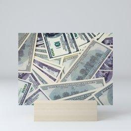 American money $100 banknotes Mini Art Print