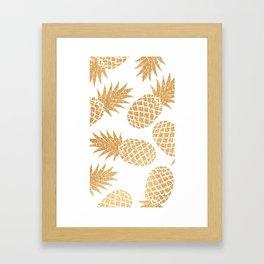 GOLD~~PINEAPPLE Framed Art Print