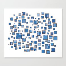 Blue Abstract Rectangles 409 Canvas Print