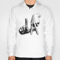 los angeles Hoodies featuring Los Angeles by big tony