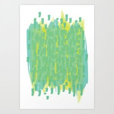 Green Splatter Art Print