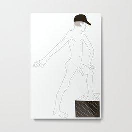 Male Nude Sketch 24 Metal Print