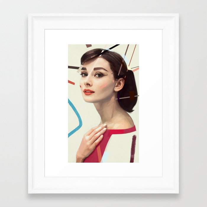 Audrey Framed Art Print