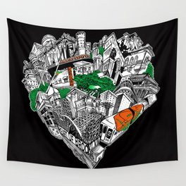 The Heart Of Brooklyn Wall Tapestry