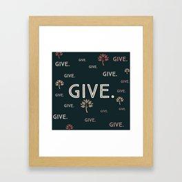 Giving Tree- Kittery (1 of 7) Framed Art Print