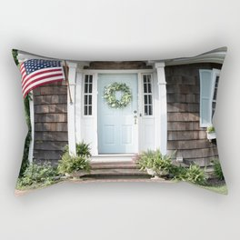 New England Cottage Rectangular Pillow