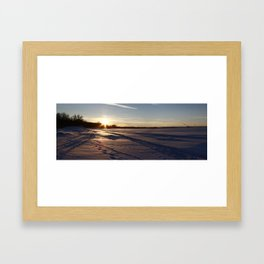 Two-thousand ten Snowfall. Framed Art Print