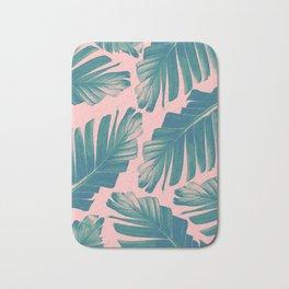 Tropical Blush Banana Leaves Dream #2 #decor #art #society6 Bath Mat