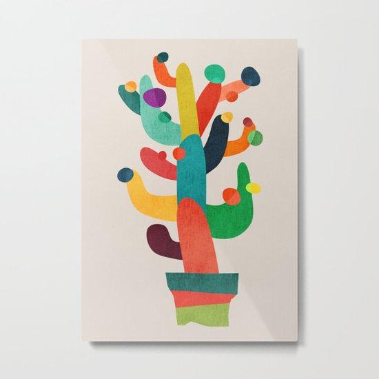 Whimsical Cactus Metal Print