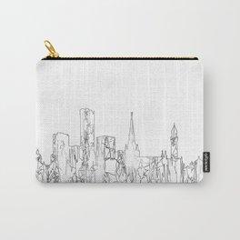 Birmingham, UK Skyline B&W - Thin Line Carry-All Pouch