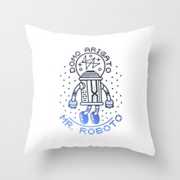 Mr. Roboto Throw Pillow