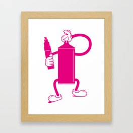 Mr Spray Can Framed Art Print