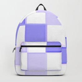 Periwinkle Blue Lavender Checkerboard Backpack