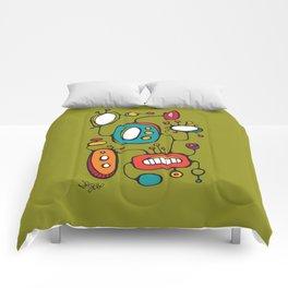 Scribbles 02 in Color Comforters
