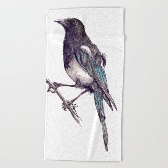 Juvenile Magpie Beach Towel