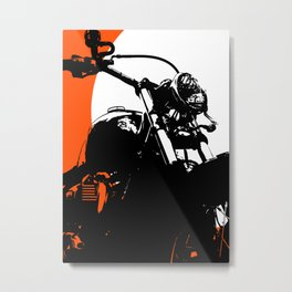 """Motorcycle wheel"" - Classic Car Lovers Metal Print"