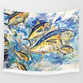 Golden Tuna Wall Tapestry