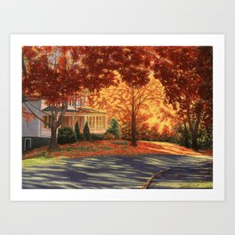 September Walk in Maine Art Print