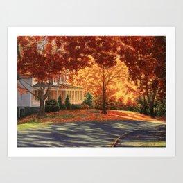 September Walk in Maine Art Print