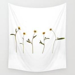 Five little flowers Wall Tapestry