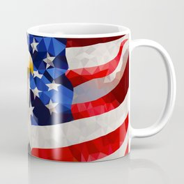 American Eagle and Flag Coffee Mug