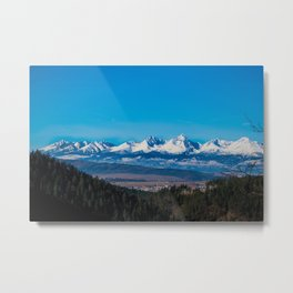 View of Tatra Mountains from Slovak Paradise National Park Metal Print
