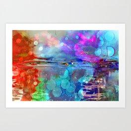Abstract Blurs . Art Print