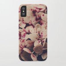 hydrangea - pink freckles iPhone X Slim Case