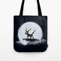 umbreon Tote Bags featuring Umbreon by EnaGrapher