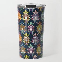 Colorful Cuckoo Clocks Travel Mug