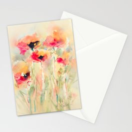 Poppies (abstract) Stationery Cards