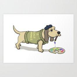 A Painting Dog Art Print