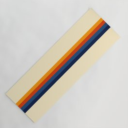 Retro Stripes Summer of Love Yoga Mat