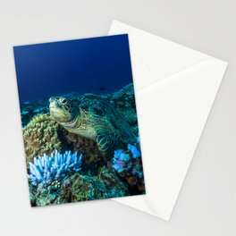 Sea Turtle on the Great Barrier Reef Stationery Cards