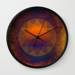 Merkaba, Abstract Geometric Shapes Wall Clock
