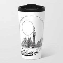 London in a glass ball . artwork Travel Mug